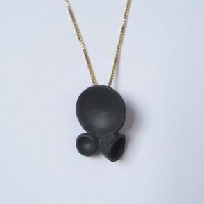 Oohhh... Black Porcelain necklace