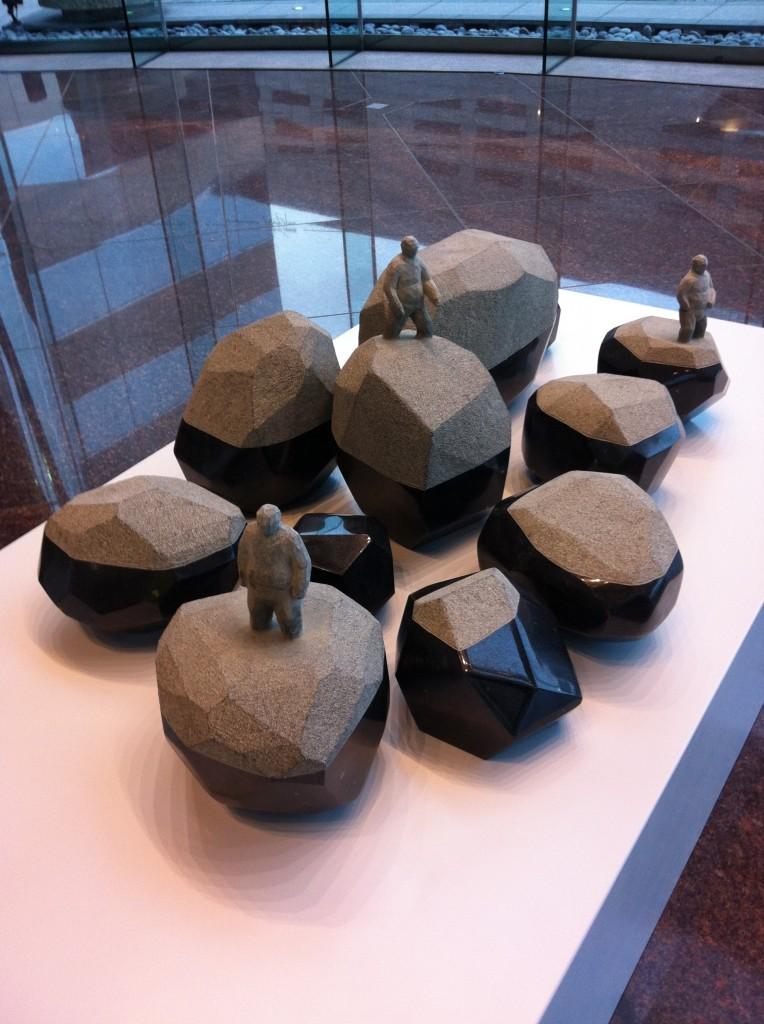 'Groping for stone'