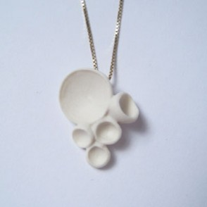 Oohhh... White porcelain necklace